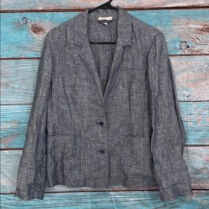 Eileen Fisher Pin Striped Blazer Cardigan Large